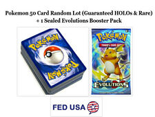 Pokemon TCG: 50 Card Lot Includes HOLOs, Rares and 1 Evolutions Booster Pack