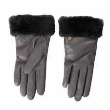 UGG 100% Leather Gray Women's Winter Gloves Sz L
