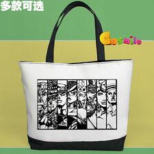 JoJo's Bizarre Adventure JoJo Canvas Handbag Bag School Shopping +  Pen Bag Sa