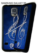 For Samsung Galaxy S3 s7 s8 + Clef Note Treble Sound Music Blue Phone Case
