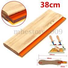 "15"" Silk Screen Printing Squeegee Square Blade Wood Handle Ink Scraper 38cm New"
