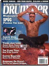 Modern Drummer - 2003, February - Mudvayne's Spug, Carlos Vega, Carter Beauford