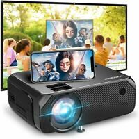 Full HD 1080P Wireless WiFi 6000 Lumens Portable Home Movie Video LCD Projector