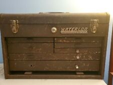 Waterloo Industrial 40520 21 Vtg Machinist Metal Tool Box Chest 7 Drawers Usa