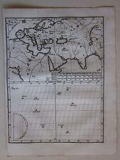 1703 EUROPA ASIA África QUINO INDIA rare original cobre plato Heinrich Scherer