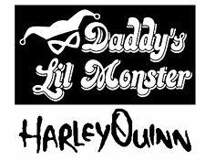 DC Comics Suicide Squad Harley Quinn 02 Vinyle Voiture Décalque Autocollant 14 cm x 17 cm