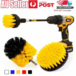 4 pcs drill brush tub cleaner grout power scrubber cleaning combo tool scrub kit