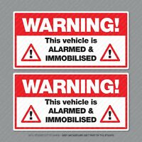 Warning This Vehicle Is Alarmed And Immobilised Car Van Taxi Sticker - SKU5298
