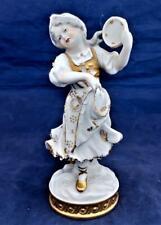 Aelteste Volkstedt Rudolstadt Porcelain Tambourine Girl Figurine V20777
