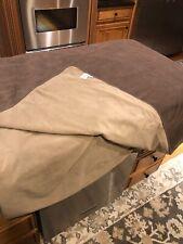 Orvis Dog Proof Reversible Coverlet Blanket Fleece Bed Sofa Floor Size King