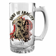 SONS OF ANARCHY RED REAPER 500ml STEIN GLASS OFFICIAL LICENSED BAR GIFT IDEA