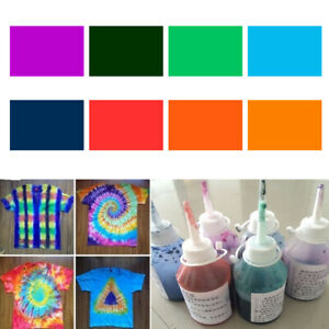 8 Colors DIY Textile Paint Tie Dye Powder Kit One Step Cold Water Craft Decor