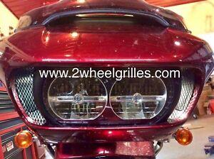 2021 Harley Davidson Road Glide Custom Black Fairing Grills Screens Vents Mesh