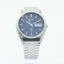 VINTAGE SEIKO QUARTZ TYPE II 7546-8080 Mens Watch JAPAN RARE BLUE DIAL
