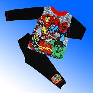 Boys Marvel Pyjamas Comics Hulk Iron man Spiderman Thor Age 2 3 4 5 6 7 8 Years