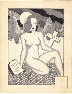 1942 original sci-fi fanzine art by Johnathan Lakely FORREST ACKERMAN COLLECTION