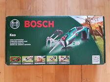 Bosch Keo Akku-Gartensäge Säbelsäge, mit Ladegerät u. Sägeblatt, in OVP