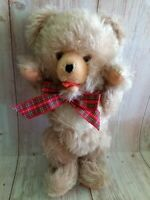 Vintage 50's Mohair Curly Teddy Bear Growler Full Jointed 12""