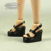1/6 Phicen, TBLeague, Nouveau Toys - Female Black Strap Wedge High Heel Shoes