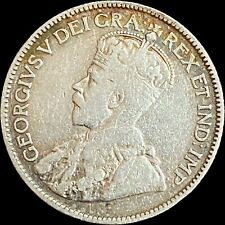 1912 Canada 25 Cents (Silver) - Sterling - King George V