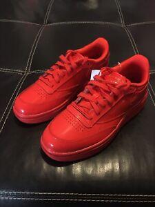 Reebok Cardi B Club C Double Low Top Shoes Triple Red FZ5219 Women's Size 8