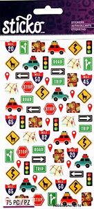 MINI ROAD TRIP ICONS Sticko Stickers Cars Holidays Map Suitcases