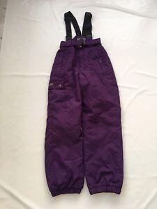 "Childs Purple Ski Salpettes Sz Waist 24""  ~ #217"
