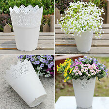 UP Lace Plant Flower Vase Pot Pen Makeup Brush Storage Holder Desk Organizer