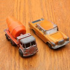 Matchbox Lesney Concrete Truck & Mercedes 300 SE Car