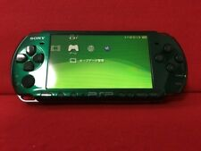 USED SONY PSP 3000 Console Spirited Green Limited Color Battery F/S Japan