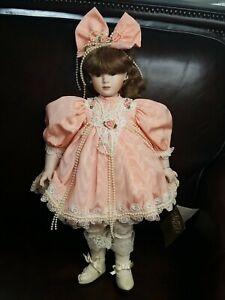 "Franklin Mint Heirloom Musical Porcelain Doll 20"" tall"