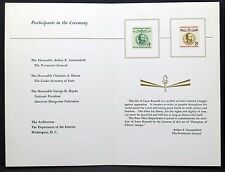 USA CHAMPION of Liberty STAMP ceremony FDC Lajos Kossuth solo tag lettera (i-3170+