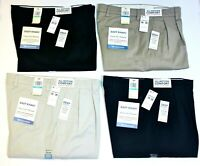 Men's Dockers Easy Khaki Pleated Comfort Waistband Classic Fit 64% Cotton Pants