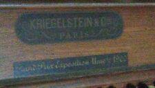 More details for upright piano - kreigelstein - parisgrand prix univle 1900