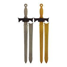2 x Kids Plastic Toy Sword - Pirate Ninja Knight Fancy Dress Costume Accessory