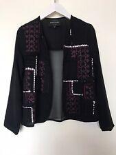 RIVER ISLAND Black Boho Style Jacket - UK Size 6 - Stunning !!!!!!!!!!!!!!!!!!!!