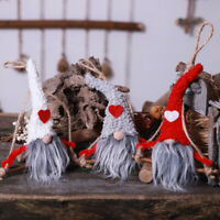 No Face Cute Santa Claus Dolls Christmas Pendants Kids Gift Xmas Tree Ornament C