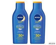 2 x Nivea Sun Protect & Moisture Sunscreen SPF 50+ 400mL