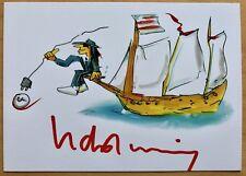Udo Lindenberg AK Unplugged 2 Live vom Atlantik Autogrammkarte original signiert