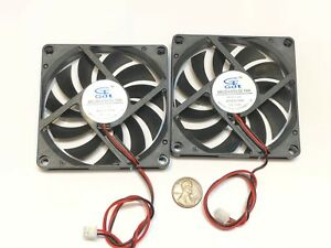 2 Pieces 8010s Gdstime 5V 2pin 80x80x10mm DC Cooling Fan large brushless C14