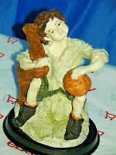 Giuseppe Armani Figurine Young Boy With Basketball