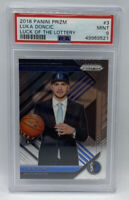 2018-19 Panini Prizm Luck Of The Lottery Luka Doncic  PSA 9 MINT #3 Rookie