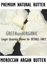 4 oz Premium Organic MOROCCAN ARGAN BUTTER FRESH RAW Natural Cold Pressed 1/4 Lb