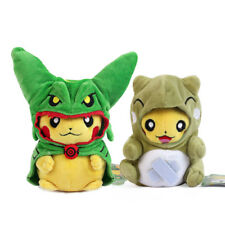 Pokemon Center Pikachu with Green Rayquaza,Whimscot Poncho Soft Plush Toy 2pcs