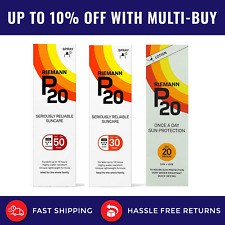 200ml Riemann P20 SPF 20 30 50 Once A Day Sun Cream Sunscreen Lotion Or Spray