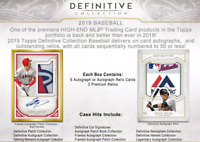2019 TOPPS DEFINITIVE BASEBALL LIVE RANDOM PLAYER 1 BOX BREAK