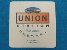 BEER Coaster: UNION STATION Brewery ~ Providence RHODE ISLAND Since 1993; Train