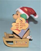 Applause, Winnie the Pooh, Christmas, rev toy sled, New, Santa Pooh, Disney