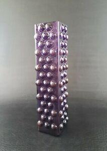 Glas Vase lila bubbles vintage glass Design purple 50er 60er 50s 60s Mid Century
