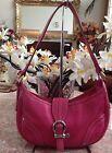 Burberry Pink Nova Check Lining Pebble Leather Hobo Baguette Shoulder Bag